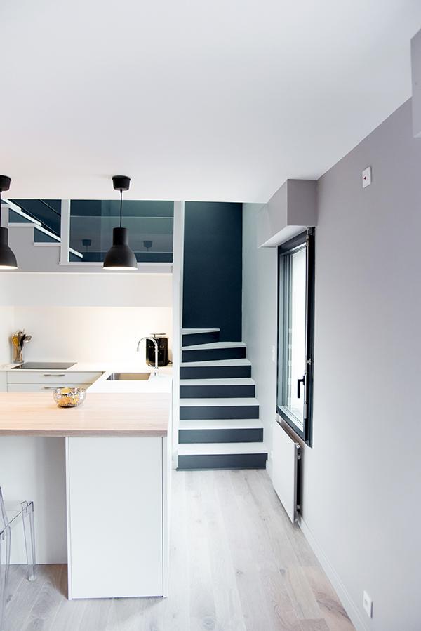 peinture int rieure d un appartement situ quai de versaille nantes couloir peintre. Black Bedroom Furniture Sets. Home Design Ideas