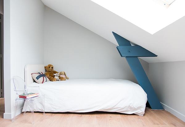 Peinture intérieure d'un appartement situé quai de Versaille à Nantes – chambre enfant