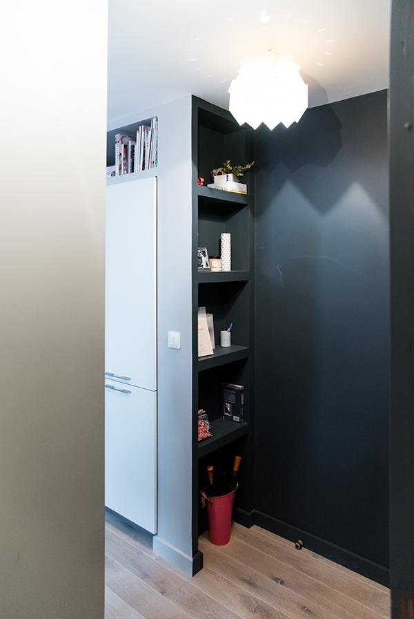 peinture int rieure d un appartement situ quai de versaille nantes biblioth que en placo. Black Bedroom Furniture Sets. Home Design Ideas