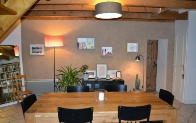 Salle à manger enduit à la chaux ferrée - Saint Nazaire (44)