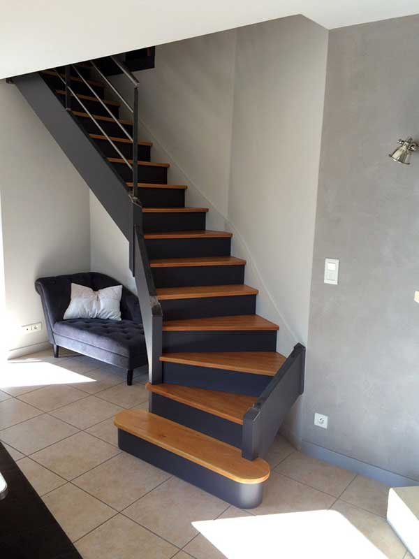 escalier repeint orvault peintre d corateur homecolor