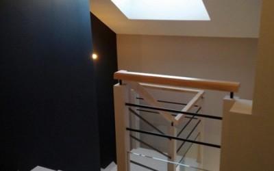 Peinture d'une cage d'escalier d'un appartement