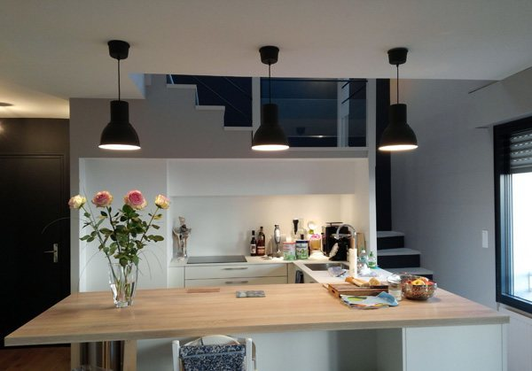 peinture cuisine appartement nantes peintre d corateur homecolor. Black Bedroom Furniture Sets. Home Design Ideas