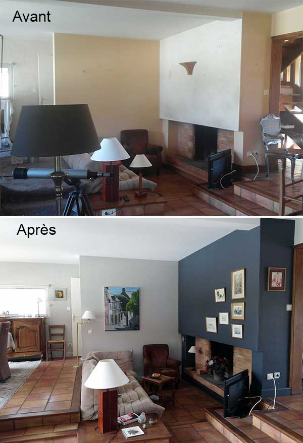 Nos r alisations d 39 int rieur les avant apr s chantiers for Decorateur interieur home staging