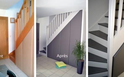 Peinture d'un escalier à Orvault (44)