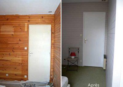 Chambre repeinte à Vannes