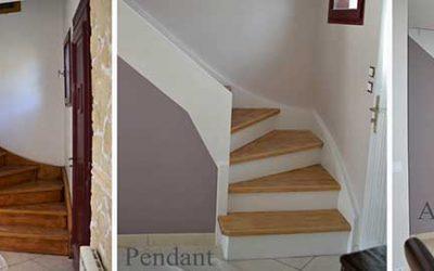 Peinture escalier à Pontchâteau